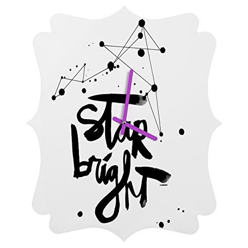 Deny Designs  Kal Barteski, Star Bright, Quatrefoil Clock, Medium by Deny Designs