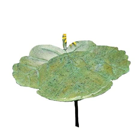 Ancient Graffiti Greenleaf Birdbath with Stake 950