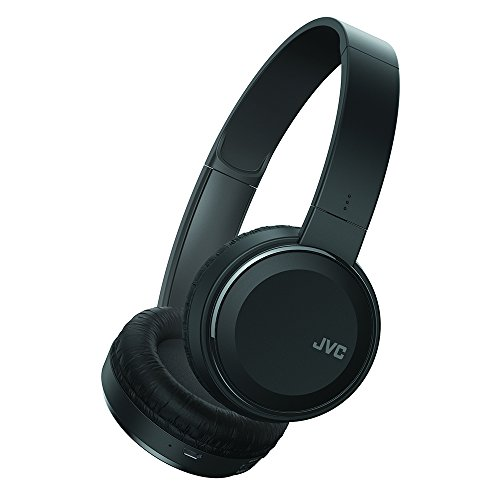 Lightweight Wireless Headphones - JVC Wireless Lightweight Flat Foldable On Ear Bluetooth Wireless Headband with Mic, Black (HAS190BTB)