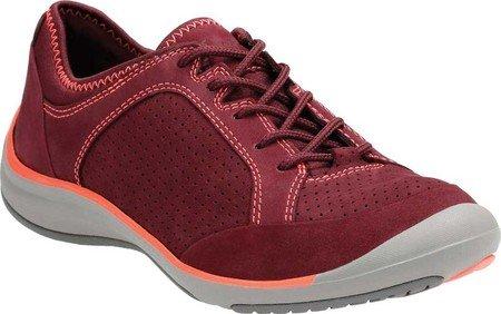 Clarks New Women's Asney Lace Sneaker Plum Nubuck (Clarks Un Loop Footwear)