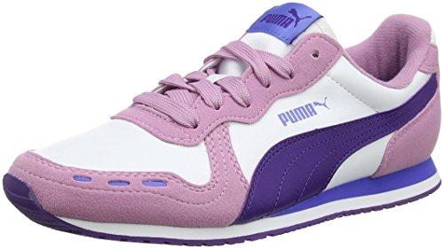 Puma Cabana Racer SL Jr, Zapatillas Unisex Niños Blanco (White-violet Indigo)