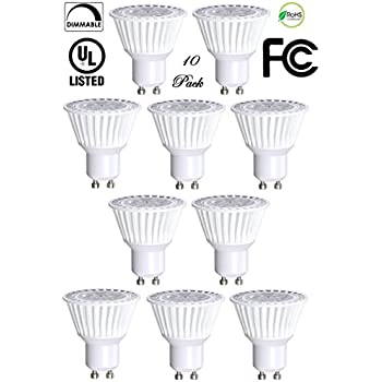 10 Pack Bioluz LED GU10 LED Bulbs 50W Halogen Equivalent Dimmable 6.5w 3000K 120v UL Listed (Pack of 10)