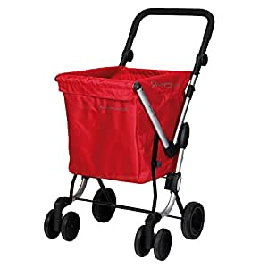 Playmarket We Go - Carro de compra, color rojo