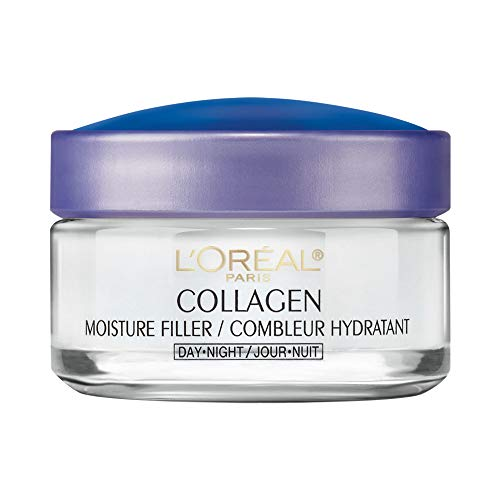 Collagen Face Moisturizer by L'Oreal Paris, Anti-Aging Day Cream and Night Cream to Smooth Wrinkles, Lightweight, Non-greasy Facial Cream, 1.7 oz. (Best Collagen For Wrinkles)