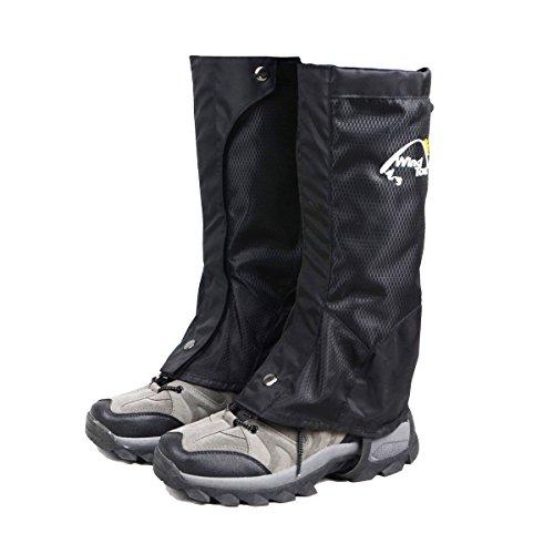 TRIWONDER Snow Leg Gaiters Waterproof Boot Gaiters Leggings Cover for Hiking Walking Climbing Hunting Cycling (1 Pair) (Black, M) Bond Ski Pants
