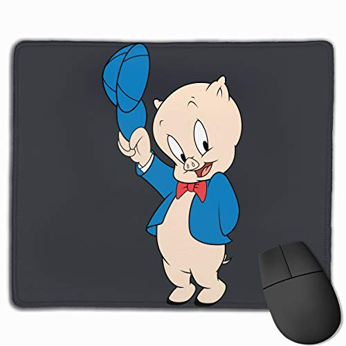 Po-rky Pig Mouse Pad with Stitched Edges, Waterproof Gaming Mouse Pads with Non-Slip Rubber Base, Mouse Matfor Computers, Laptop, Office & Home