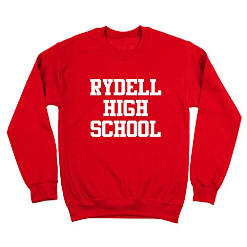 Mens Sweater 1970s (Rydell High School Funny Old School Retro Grease 70s Humor Mens Sweatshirt Large Red)
