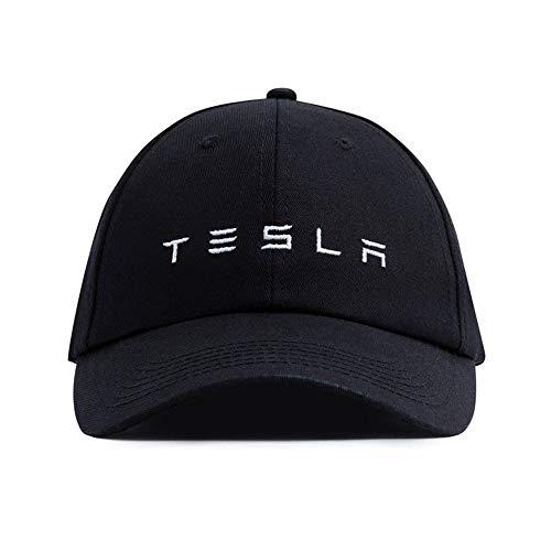 JSAMZ Tesla Car Logo Baseball Cap (Letters (Black))
