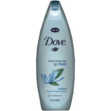 Dove Beauty Body Wash Go Fresh, Refresh with Waterlily Fresh Mint Scent 12 oz