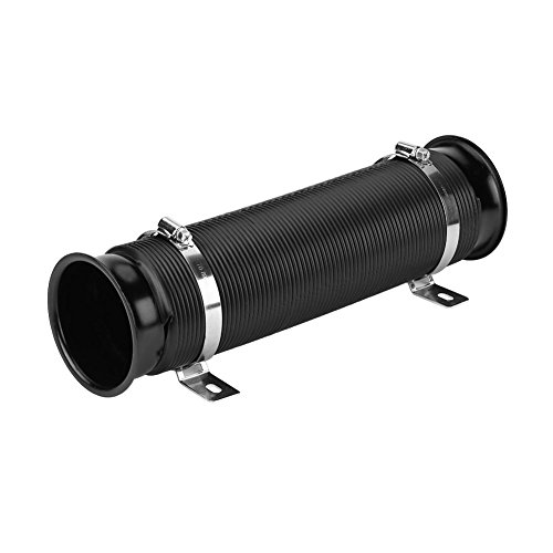 Black Car Intake Pipe Intake Hose Air Filter Cold Air Hose Air Intake Pipe Universal 76 mm 3 Inches: