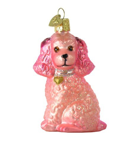 Old World Christmas 12513 Ornament, Pink Poodle