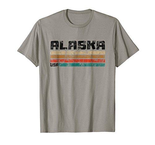 Alaska T-Shirts AK Retro Vintage Shirt Gift Men Women (Alaska Tee)