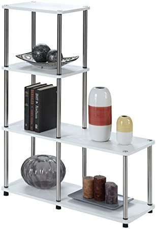 Convenience Concepts Designs2Go Multi L Bookshelf, White