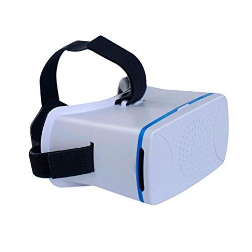 Binmer(TM)Virtual Reality Head Vedio 3D Glasses for iPhone Google Cardboard (White)