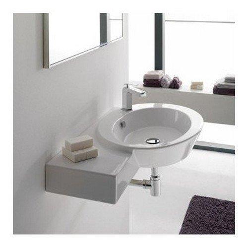 Scarabeo 2012-One Hole-637509887018 Decorator Bathroom Sink Vessel, - 34 Console Bathroom Sink Inch