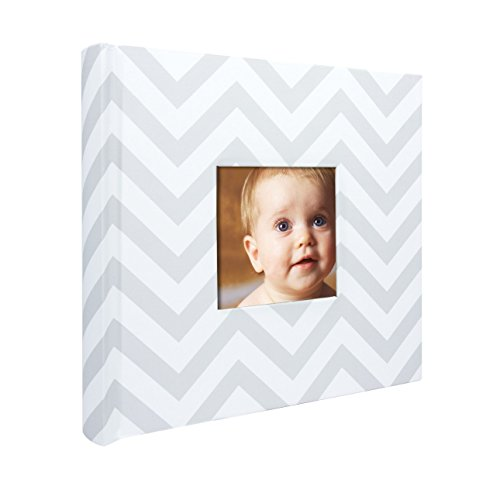 Album Little Girl (Pearhead Chevron Baby Photo Album, Gray)