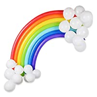 LAttLiv Party Balloons 40'' Rainbow Latex Balloons for Baby Shower Birthday Decoration Kids Party Supplies