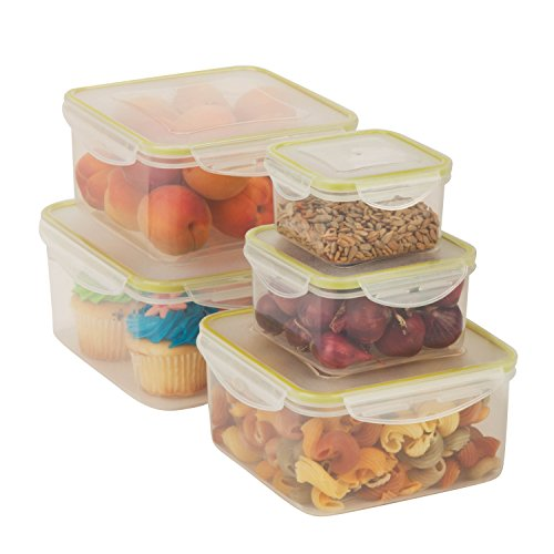 Honey Can Do KCH 03830 Snap Tab Rectangular Container
