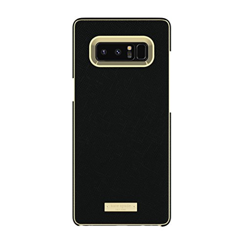 kate spade new york Wrap Case for Samsung Galaxy Note 8 - Saffiano Black/Gold Logo Plate