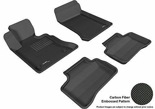 3D MAXpider Custom Fit Complete Floor Mat Set for Select Mercedes-Benz GLK-Class Models - Kagu Rubber (Black)