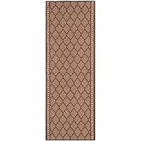 Nance Industries Non Slip Kitchen-Bath-Hallway Runner Mat, 22 W x 6 L, Mosaic Chestnut Brown