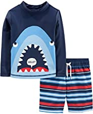 Simple Joys by Carter's Baby and Toddler Boys' 2-Piece Swimsuit Trunk and R
