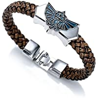 patcharin shop The Legend of Zelda Anime Cosplay Bracelet Wrist Punk Leather Bracelet Bangle