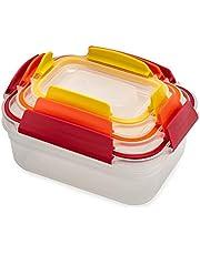 Joseph Joseph Plastic Food Storage Container Set with Lockable Airtight Leakproof Lids
