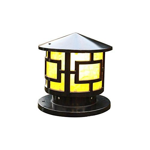 MG Outdoor-Garten Licht, wasserdicht Rostschutz, Anti-Oxidation und korrosionsBesteändige Säule Lampe zusätzlich zu Glühbirne, 110-230V E27 (Säule) schwarze Farbe [Größe A]