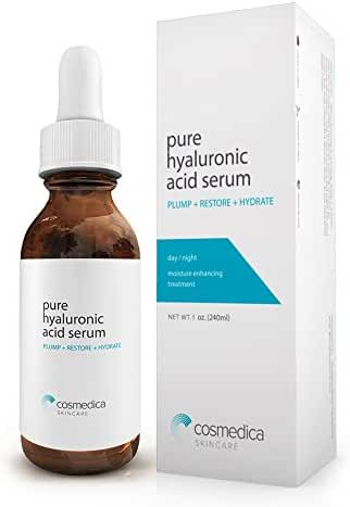 Best-Selling Hyaluronic Acid Serum for Skin-- 100% Pure-Highest Quality, Anti-Aging Serum-- Intense Hydration + Moisture, Non-greasy, Paraben-free-Best Hyaluronic Acid for Your Face (Pro Formula) 1 oz
