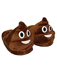 XILALU Women and Men Plush Slippers Creative Expression Emoji Face Funny Indoor Shoes