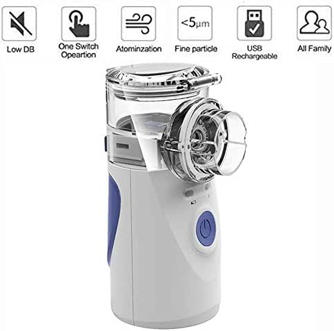 Portable Mini Nebulizer - Handheld Travel Steam Cool Mist Inhaler - Kids Adults and Daily Home Use Cure
