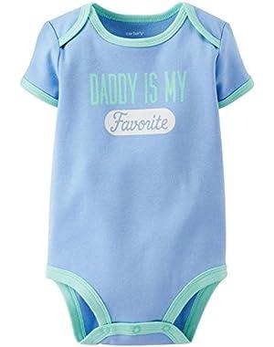Slogan Bodysuit (111a494), Blue, New Born