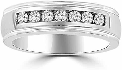 Madina Jewelry 0.66 ct Men's Round Cut Diamond Wedding Band in Platinum