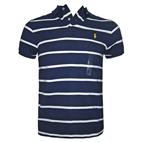 af234989ece45 ... low price ralph lauren hombre polo camiseta oscuro azul blanco rayas a  medida talla s m f4c0b