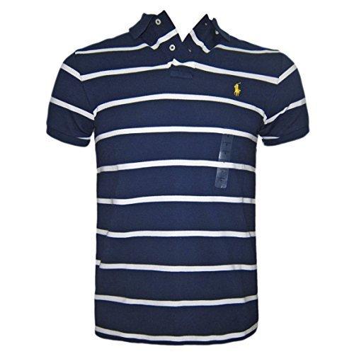 01ae00fd2bcb5 ... low price ralph lauren hombre polo camiseta oscuro azul blanco rayas a  medida talla s m f4c0b