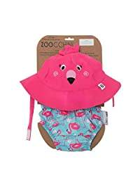 Zoocchini Swim Diaper and Sun Hat Set Frog