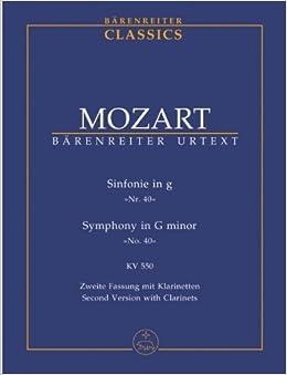 モーツァルト: 交響曲 第40番 ト短調 KV 550/ベーレンライター社/新モーツァルト全集版/中型スコア