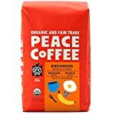 Peace Coffee Birchwood Breakfast Blend, Medium Roast (Sumatra & Peru Origins) Organic Fair Trade Coffee, Whole Bean 20 oz. Ba