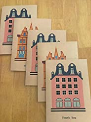 Pink House/Orange House Thank You Cards