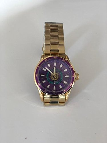 Exclusive Classic Omega Psi Phi Fraternity Color Face Gold Watch W