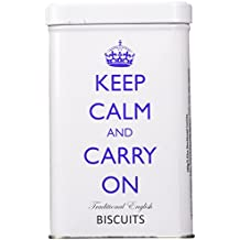 Keep Calm and Carry On Traditional English Biscuits Tin, Dorset Ginger Cookies, 100g (3.53oz)
