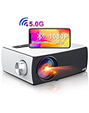 $199 » Artlii Enjoy 3 Portable Native 1080P 5G WiFi Bluetooth Projector, Full HD Movie Projector Supports Zoom & Keystone, Compatible with TV Stick/iOS/Android/PS4/PPT/HDMI/USB