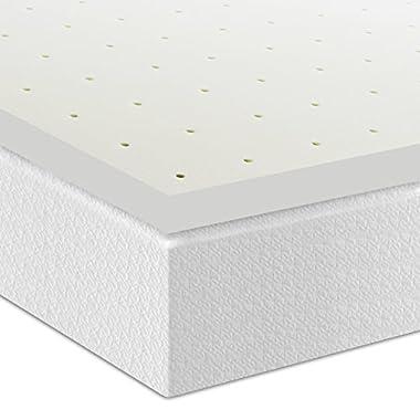 Best Price Mattress 2.5  Ventilated Memory Foam Mattress Topper, King