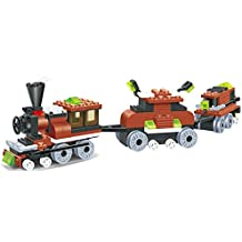 Limited edition Train 169pcs building blocks steam 2 windows cabin engine locomotive railway train set comes with 2 extra load wagon bogies - a must gift for all 6+ children, compatible parts