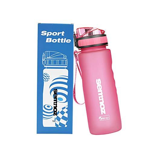 kslong スポーツウォーターボトル Tritanプラスチック ポータブル 18/36オンス アウトドアフィットネスボトル ローズレッド 500ML