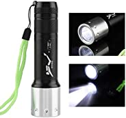 Diving Flashlight 6000 Lumen Scuba Dive Lights IPX8 Waterproof Aluminum Alloy Portable T6 LED Diving Flashligh