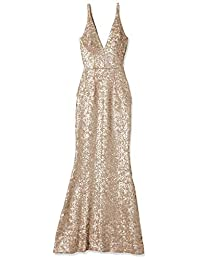 Dress the Population Womens Harper Sequin Gown