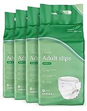 Amazon Basic Care Adult Slips Large, 4 verpakkingen van 10 (40 totaal)