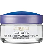 L'Oreal Paris Collagen Moisture Filler Day and Night Cream, Anti Aging Face Moisturizer, Reduces Fine Lines and Wrinkles, For All Skin Types Including Sensitive Skin, 50ml